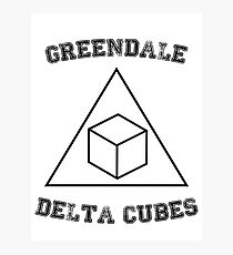 Greendale Delta Cubes Photographic Print