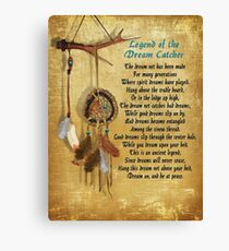 Legend of the Dream-catcher Poster Canvas Print
