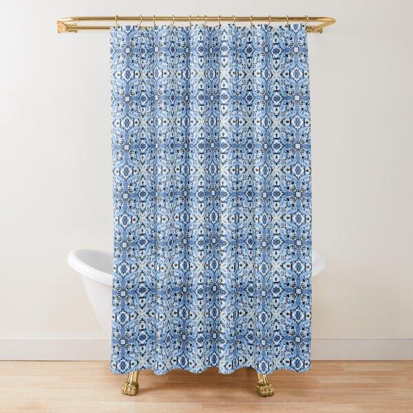 Ice Heart 3 Weavers Core Shower Curtain
