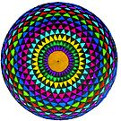 Multi-Colored Mandala by Richard-Gary Butler