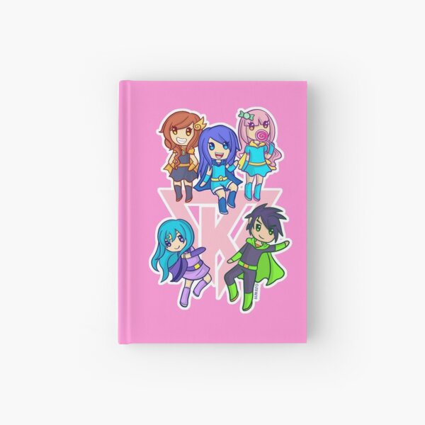 Funneh Krew Heroes Pink ORIGINAL ARTWORK - HIGH QUALITY PRINT Hardcover Journal