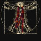 """Da Vinci Meets the Doctor - """"Reds"""" (for Dark T-shirts) by TerryLightfoot"""