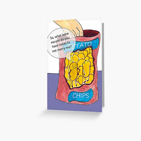 Potato Chip Commitment Issues  Greeting Card