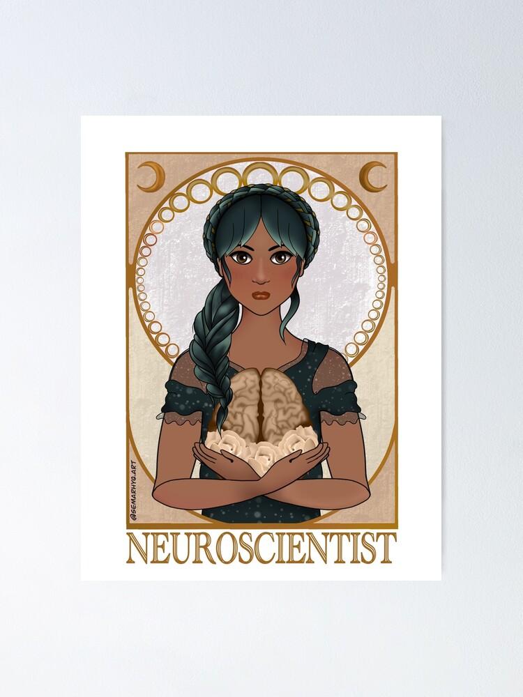 Alternate view of Neuroscientist (Art Nouveau) Poster