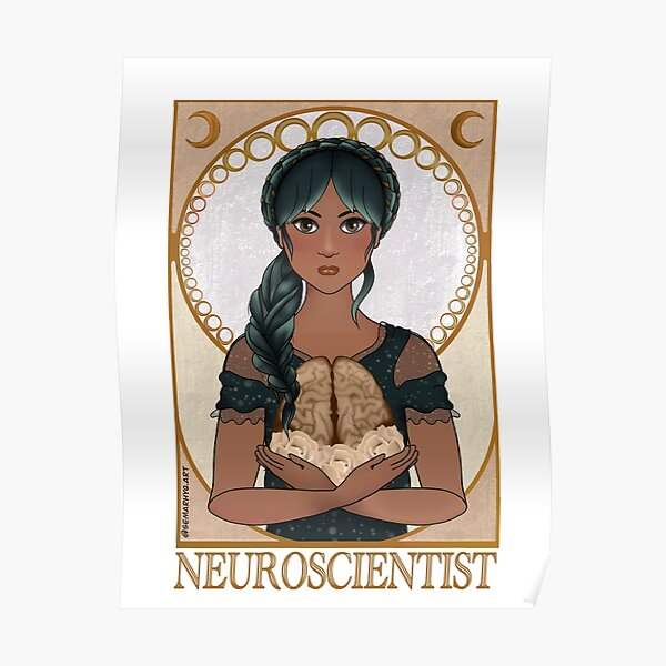 Neuroscientist (Art Nouveau) Poster