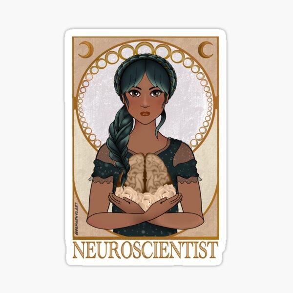 Neuroscientist (Art Nouveau) Sticker