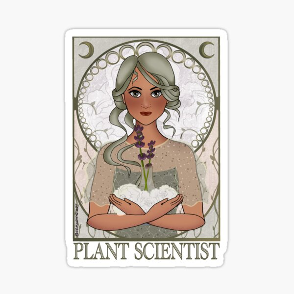 Plant Scientist (Art Nouveau) Sticker