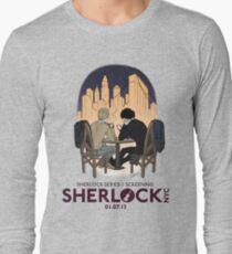 Sherlock NYC - SCREENING - Night (Purple Logo) Long Sleeve T-Shirt