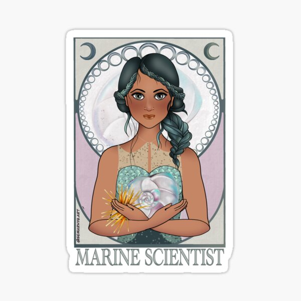 Marine Scientist (Art Nouveau) Sticker