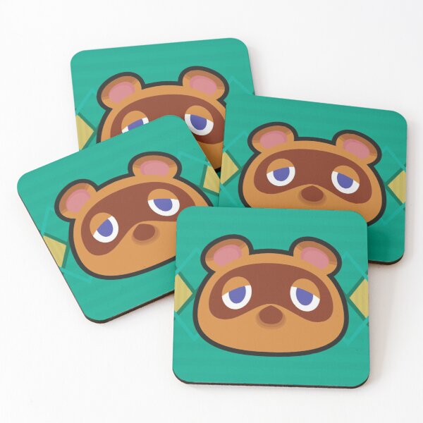 TOM NOOK ANIMAL CROSSING Coasters (Set of 4)