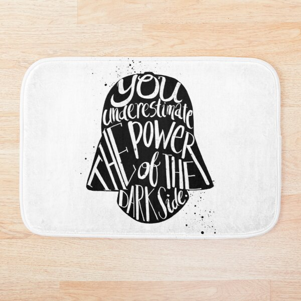 you under estimate the power typography  Bath Mat