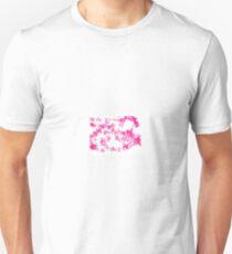 pink butterflies around the world Unisex T-Shirt
