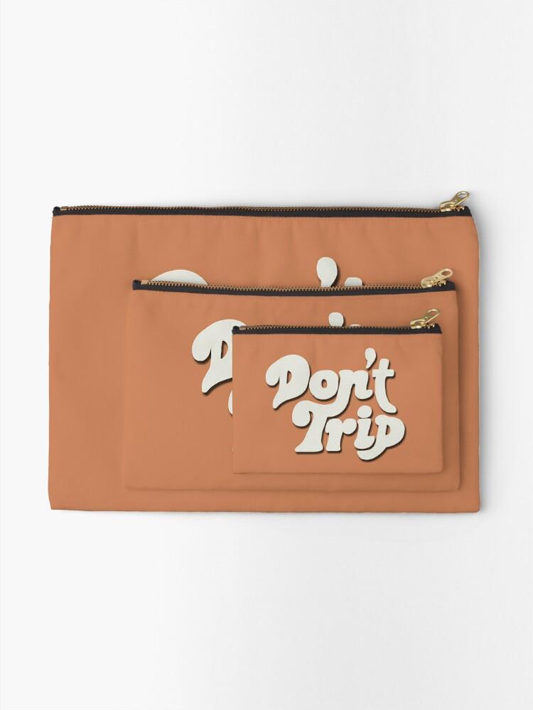 Alternate view of Mac Miller Don't Trip Circles Swimming Text Design Zipper Pouch