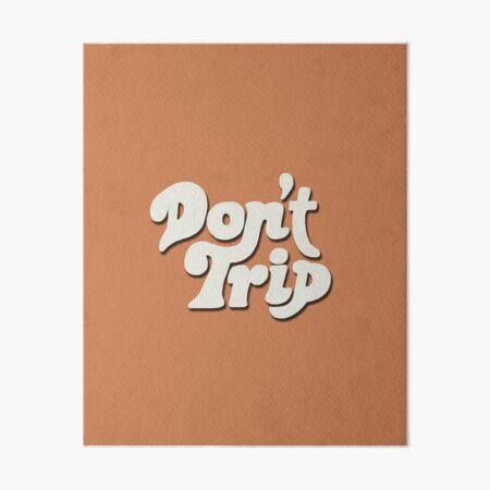 Mac Miller Don't Trip Circles Swimming Text Design Art Board Print