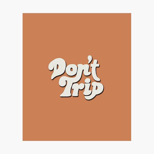 Mac Miller Don't Trip Circles Swimming Text Design Photographic Print