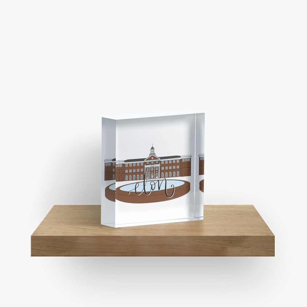 Elon Alamance Fountain Color Acrylic Block