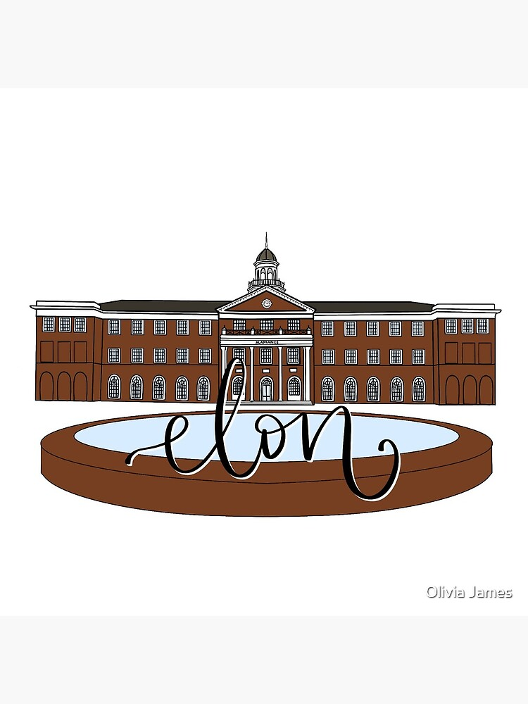 Elon Alamance Fountain Color by lettersbylivi