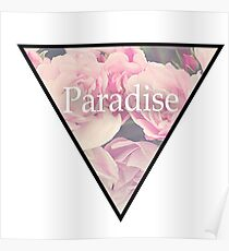 Paradise Flowers Poster