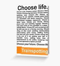 Choose life. Greeting Card