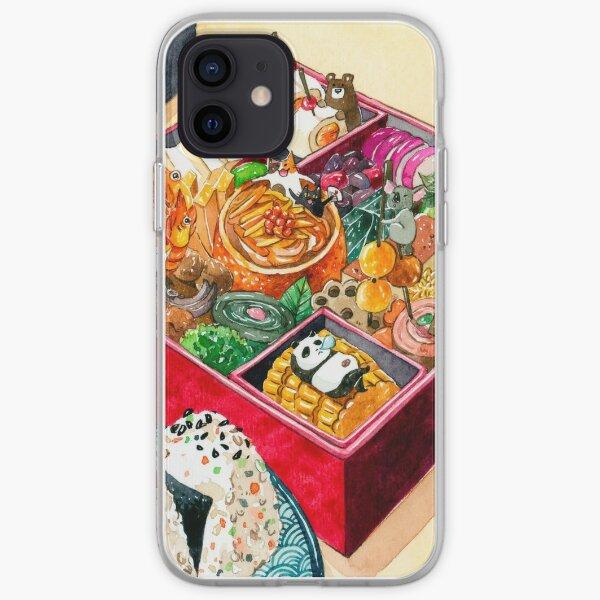 Osechi año nuevo japonés Bento Funda blanda para iPhone
