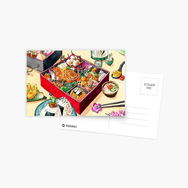 Osechi Japanese New Year Bento  Postcard