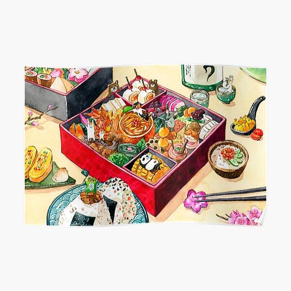 Osechi Japanese New Year Bento  Poster