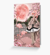 Flamingo Fairy - Pink Moon Greeting Card