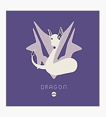 Pokemon Type - Dragon Photographic Print