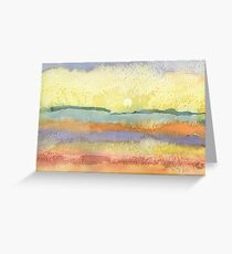 Sunset in watercolor Greeting Card