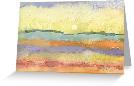 Sunset in watercolor by eliorawolfe