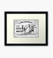Remember Pearl Harbor Day cartoon Framed Print