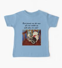 Rocking With Friends - Cat & Stuffed Animals iPhone Cases, T-Shirts & Stickers Baby Tee