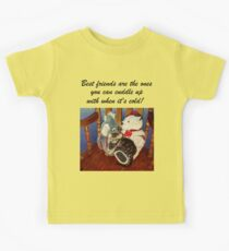 Rocking With Friends - Cat & Stuffed Animals iPhone Cases, T-Shirts & Stickers Kids Tee