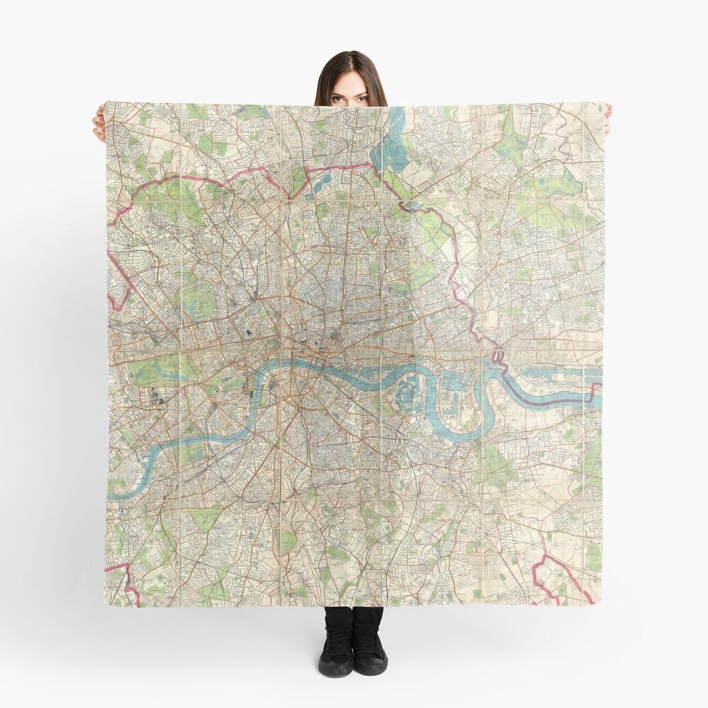 Vintage Karte von London England (1899) Tuch
