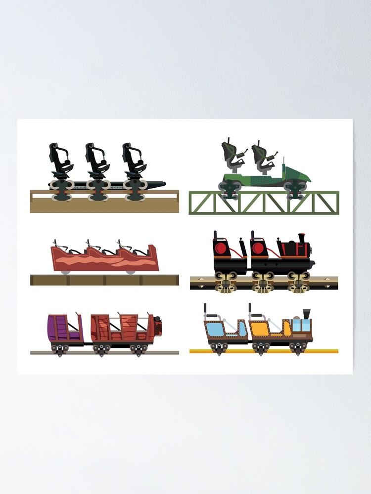 Alternate view of Liseberg Coaster Cars Design Poster