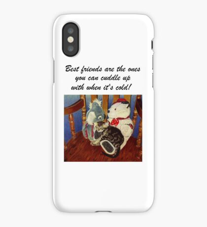 Rocking With Friends - Cat & Stuffed Animals iPhone Cases, T-Shirts & Stickers iPhone Case