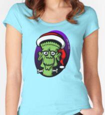 Christmas Frankenstein Women's Fitted Scoop T-Shirt