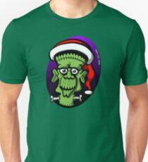 Christmas Frankenstein Slim Fit T-Shirt