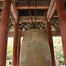 Temple Bell, Bulguksa, Geongju, Korea by Jane McDougall