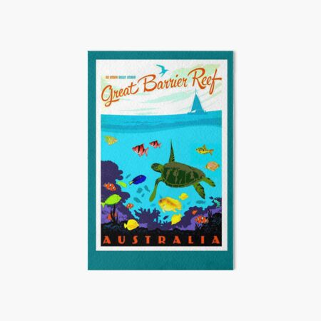 AUSTRALIA : Great Barrier Coral Reef Print Art Board Print