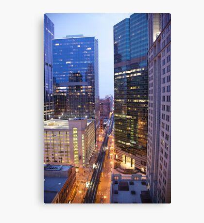 Dusk in Chicago Canvas Print
