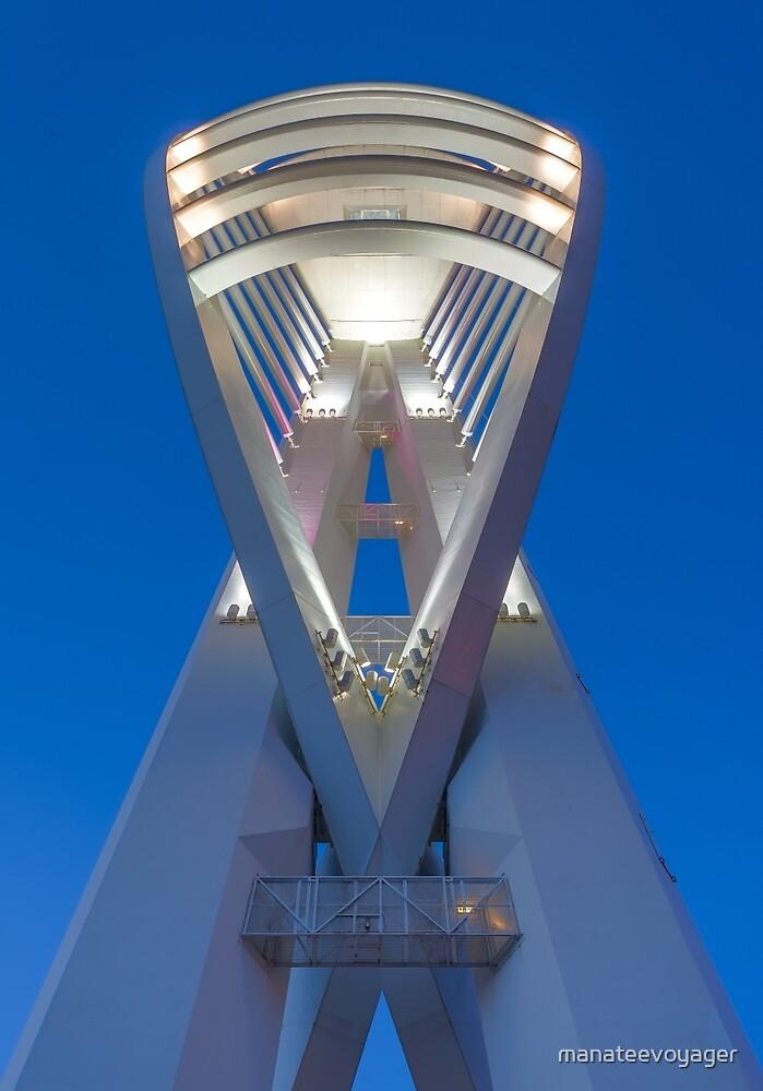 Spinnaker Tower At Night by manateevoyager