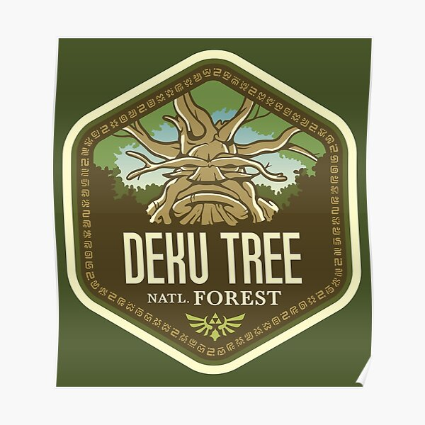 Deku Tree National Forest Poster