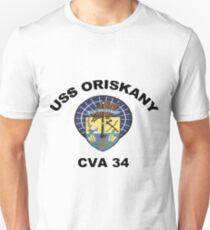 Crest of USS Oriskany (CV/CVA-34) Unisex T-Shirt