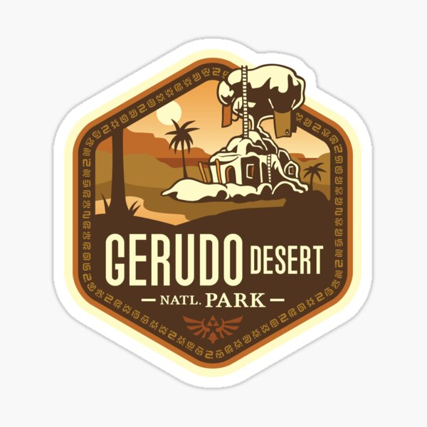 Gerudo Desert National Park Sticker