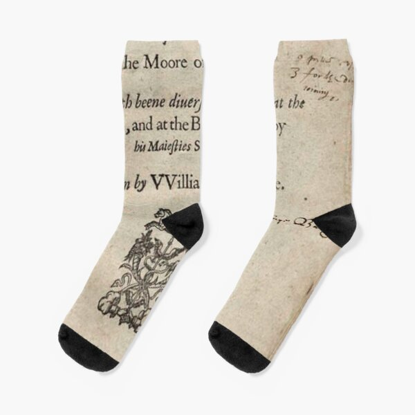 THE Tragoedy of Othello, The Moore of Venice, Written by William Shakespeare, London 1622 Socks