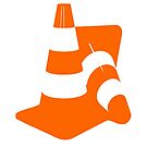 Traffic cones two safety pylons markers by SofiaYoushi