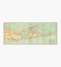 Vintage Road Map of Long Island (1905) Photographic Print