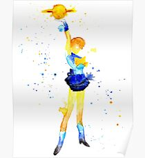 Uranus Watercolor Poster