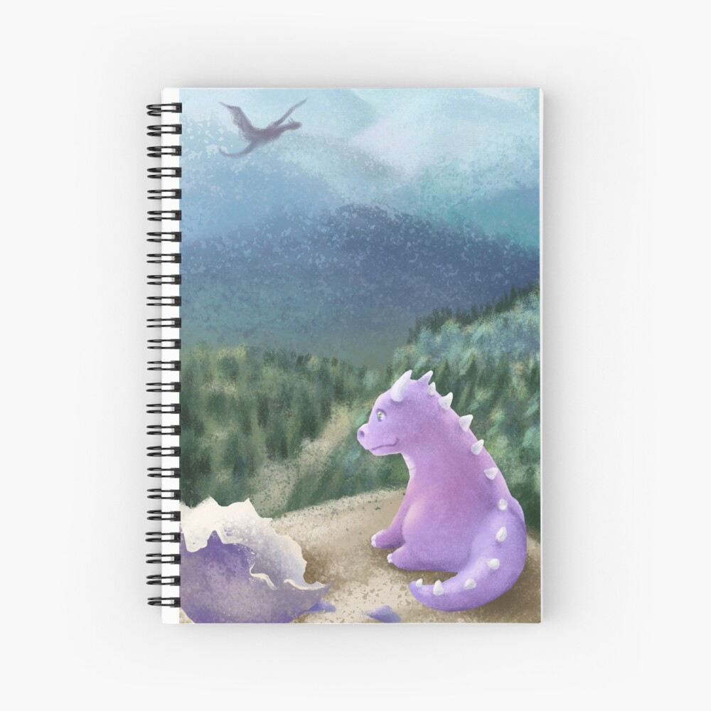 Dragon hatchling Spiral Notebook